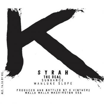 K Vintners The Deal Sundance Vineyard Syrah 2014