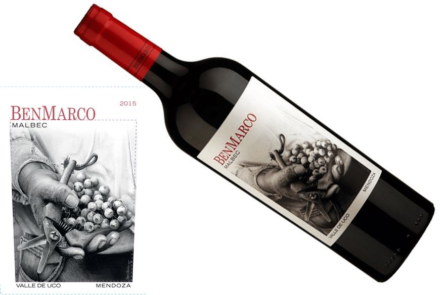 Susana Balbo Wines BenMarco Malbec 2015   Daily Comfort Food Wine   Pairs w/Red Meat, Burgers, Rice Dishes   Serve 60-65°F   Drink now thru 2022   100% Malbec from Uco Valley, Mendoza, Argentina 93JS   Full body, velvety tannins and a delicious finish   Winemaker Susana Balbo is a class act – one of 4 great labels