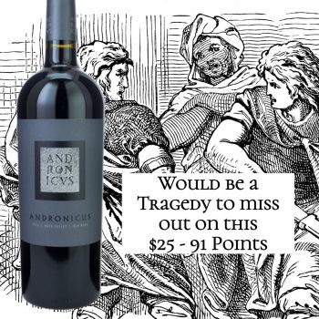 Titus Andronicus Red Wine 2015