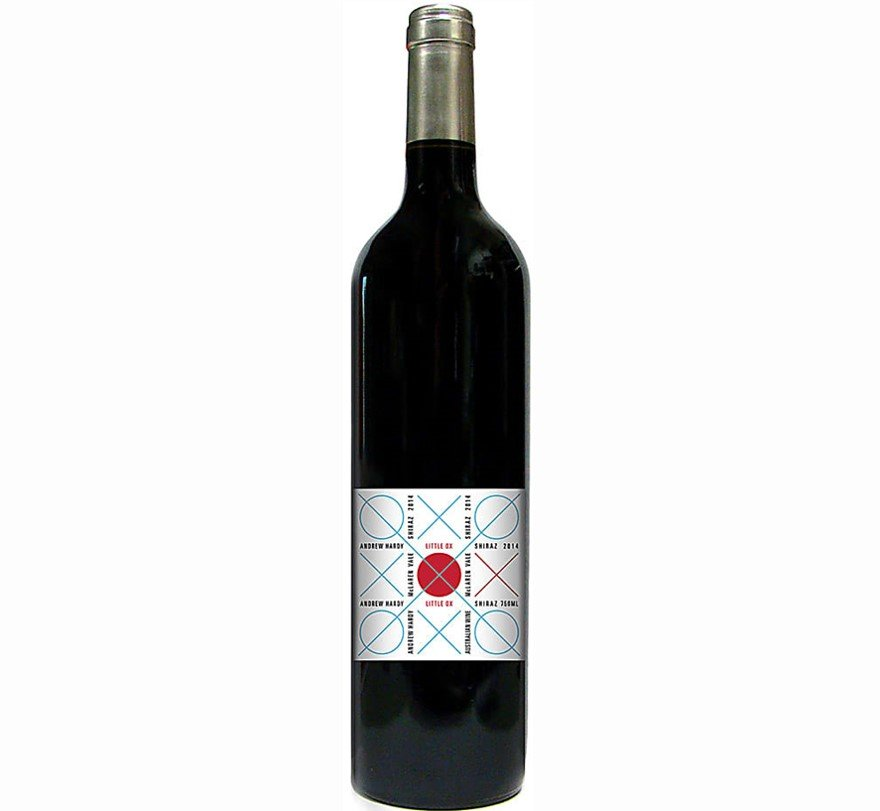 Andrew Hardy Little Ox Shiraz 2014   Inky, Dense, and Velvety  Cellar Selection   Pairs w/Red Meat, Comfort Food, Hard Cheese   Drink 58-63°F   Drink now thru 2028   92WA  Red Wine   Syrah   McLaren Vale, Australia