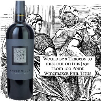 Titus Andronicus Red Wine 2017